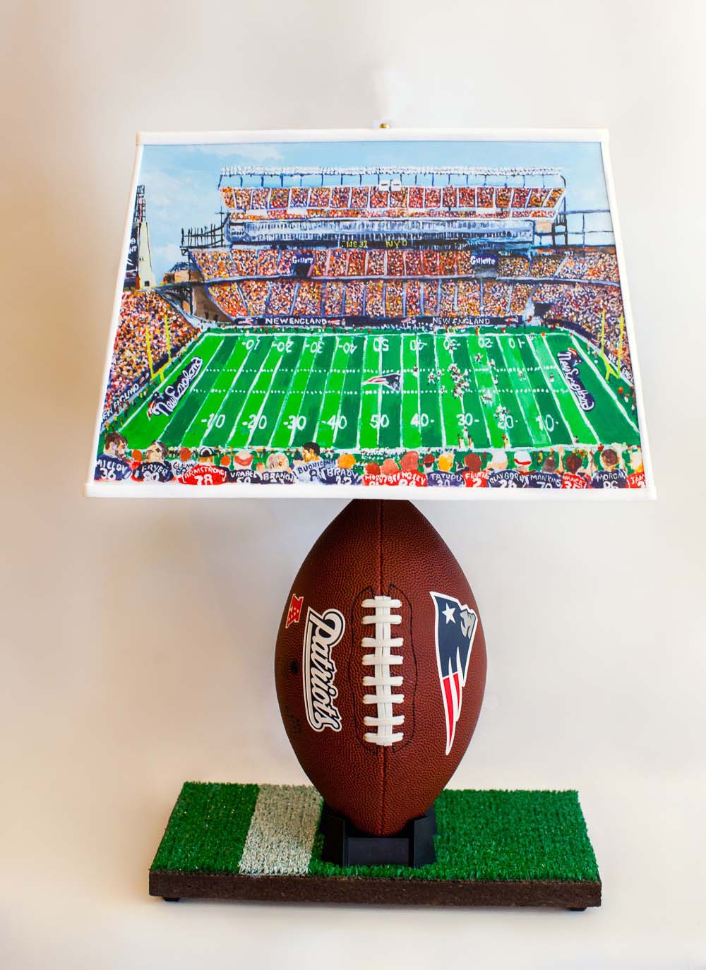 New england football lamp with special lampshade concord lamp and new england football lamp with special lampshade aloadofball Images